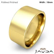 10mm ring comfort pipe cut ring men wedding band 10mm 14k yellow gold 13 7gm