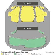 American Airlines Floor Plan Vipseats Com American Airlines Theatre Tickets