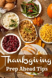 thanksgiving prep ahead tips
