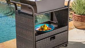 outsunny b2 0013 rolling ice chest portable patio party drink