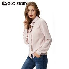 bow tie blouse plus size glo plus size blouses 2017 autumn fashion blouse bow