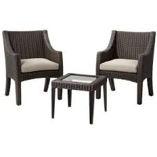 Target Wicker Patio Furniture by Target Home Belvedere 3 Piece Wicker Patio Bistro Furniture