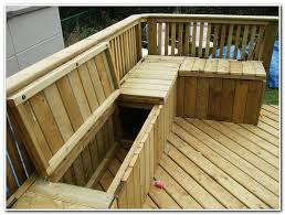 Decks With Benches Built In Built In Deck Bench With Back Plans Decks Home Decorating