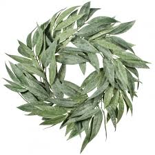 bay leaf wreath 27 bay leaf wreath green fr6413 craftoutlet