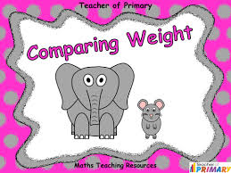 comparing weight year 1 powerpoint presentation and worksheets