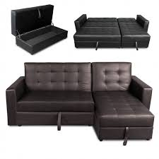 Corner Unit Sofa Bed Real Leather Corner Sofa Bed With Storage Aecagra Org