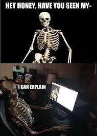 Skeleton Computer Meme - just when you thought it wouldn t get any spookier by bakoahmed