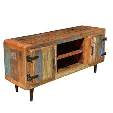 Barn Wood Entertainment Center Rustic Reclaimed Wood Retro Industrial Media Stand And Console