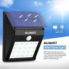 Outdoor Solar Panel Lights - 20 led outdoor solar powered pir motion sensor wall light garden