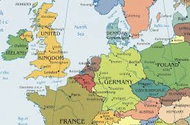 map of euorpe map of europe showing belgium major tourist attractions