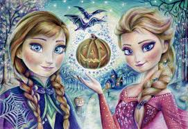 halloween art wallpaper frozen cold heart elsa snow queen anna halloween girls halloween