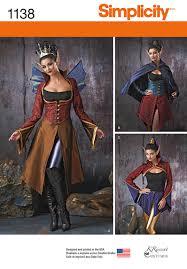 Simplicity Halloween Costumes Simplicity 1138 Misses U0027 Dark Faeries Costumes