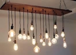 exceptional urban industrial chandelier edison bulb chandelier