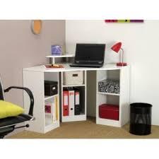 vente unique bureau vente unique bureau d angle avec étagères fiducia coloris blanc