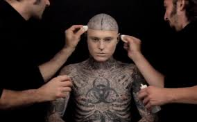 tattoo boy hd pic video zombie boy demonstrates ultimate tattoo concealer telegraph
