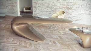 Single Desk Design Single Continuous Shape Defining Original Desk Design By Nuvist