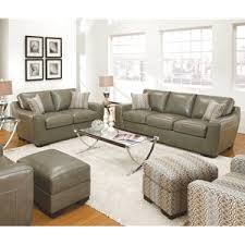 Simmons Leather Sofa Cantina Quarry Loophole Breeze Bonded Leather Sofa By Simmons
