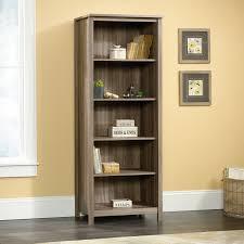 sauder 5 shelf bookcase sauder county line library salt oak finish walmart com