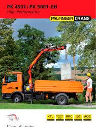 pk 5001 eh high performance palfinger pdf catalogue