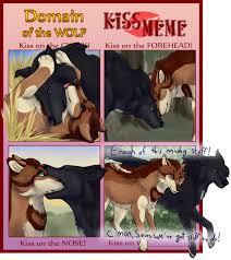 kiss meme on domain of the wolf deviantart