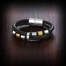 man stainless bracelet images Trendy stainless steel men bracelet wrap wristband for men classic jpg