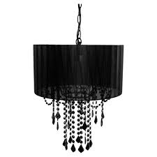 tadpoles 1 light black chandelier shade cchash020 the home depot