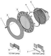 pentair pool light parts sta rite sunsaver light replacement part schematic