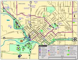 midland map maps of parks trails attractions more in midland