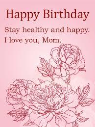 elegant flower birthday card for mom birthday u0026 greeting cards