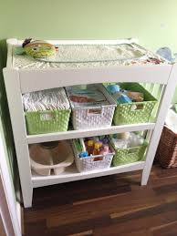 baby changing table basket baby change station storage and changing table with lots of room