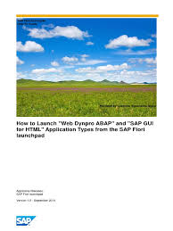 wda how to launch web dynpro abap and sap gui for html application