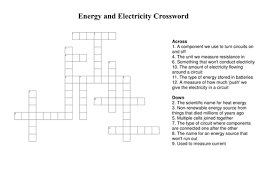 electricity crossword puzzle physical science all the best
