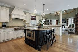 kitchen cabinet remodeling black kitchen island beige granite