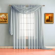 Silver Window Curtains Warm Home Designs Silver Window Scarf Valances Sheer Silver
