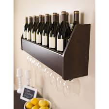 Kitchen Wine Cabinets Floating 18 Bottle Wine Rack Walmart Com