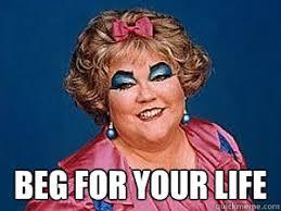 Mimi Meme - beg for your life mimi meme quickmeme