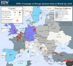 World War 1 Map Of Europe by Isis U0027s Campaign In Europe March 2016 Institute For The Study Of War