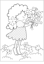 coloring pages kids download printable flower coloring pages
