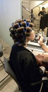 forced to wear hair rollers sissy salon getting a curly perm yahoo image search results