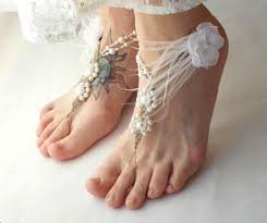 wedding barefoot sandals wedding barefoot sandals white ostrich feather detail mojo s