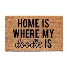 home doodle doormat dog doormat funny doormat doodle