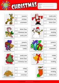 christmas esl printable worksheets for kids 2