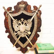 Large Crown Wall Decor Large Coat Of Arms Wall Art Plaque From Southcentric On Etsy