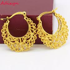 gold earrings for wedding big size gold earrings gold color india women
