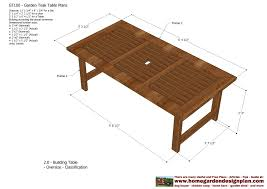 Free Wood Table Plans by Home Garden Plans Gt100 Garden Teak Tables Woodworking Plans