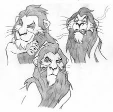 pencil sketches of lion king scar from the lion king pencil