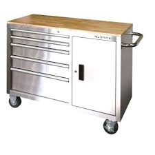 stainless steel workbench cabinets husky 5 drawer tool box husky in 5 drawer and 1 door stainless steel