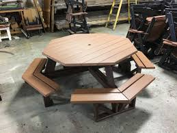 Poly Picnic Tables by Charlotte Poly Lumber Furniture U0026 Adirondack Chairs Visions