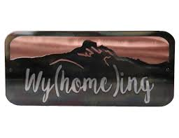 Home Decor Wall Art Smw433 Custom Home Decor Sign Wall Art Wyoming Sunriver Metal Works