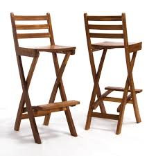 Outdoor Wooden Chairs Tundra Foldable Outdoor Wood Barstool Hayneedle